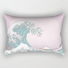 Great Wave Pastel Rectangular Pillow