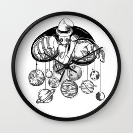 Planets Puppeteer Wall Clock