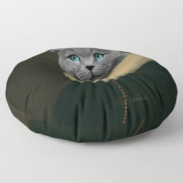 Portrait of a Cat Floor Pillow