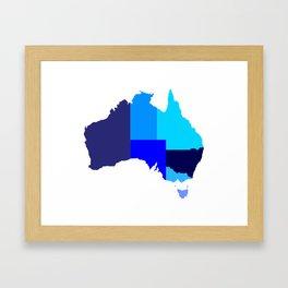 Australia State Silhouette Framed Art Print