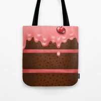 pie Tote Bags featuring Pie by Rejdzy