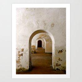 Through the corridor Art Print