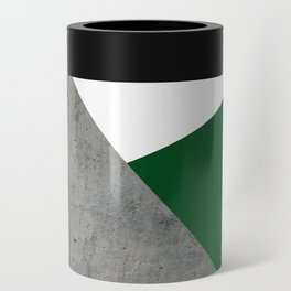 Concrete Festive Green White Can Cooler