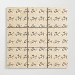 Hey Thursday   [pattern, black] Wood Wall Art