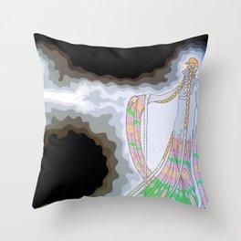 "Art Deco Design ""At the Theatre"" Throw Pillow"
