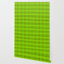 Green Glow Plaid Wallpaper