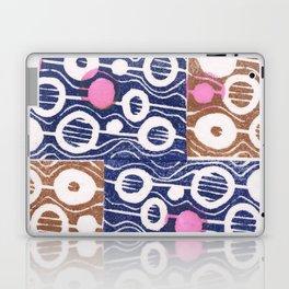 Hot pink dots Laptop & iPad Skin