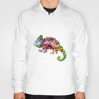 chameleon Hoodies featuring Chameleon by RAW-CUT