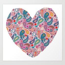 Paisley Addict - Heart Art Print