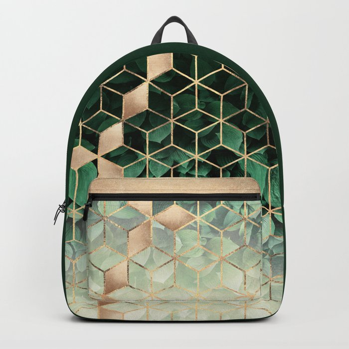 Leaves And Cubes Rucksack