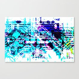circuit board blue Canvas Print