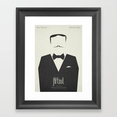 The Artist - minimal poster Framed Art Print