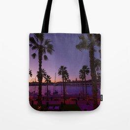 Sunset At Malaga Tote Bag
