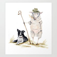 Sheepherd Sheep Art Print