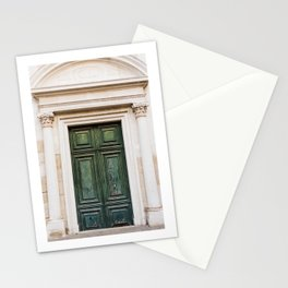 Old Green Door in Venice | Italy Travel Photography | Fine Art photo  Stationery Cards