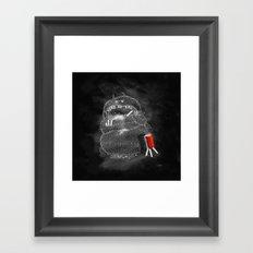 Chalk Monster Framed Art Print