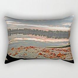 The stillness of water Rectangular Pillow