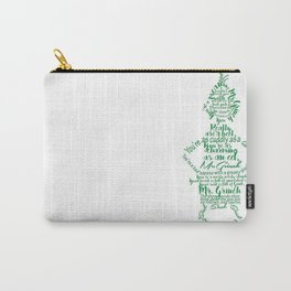Mr.Grinch Typography Carry-All Pouch