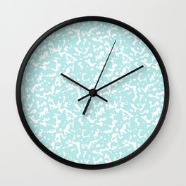 Mint and White Composition Notebook Wall Clock