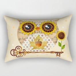 Owl's Autumn Song Rectangular Pillow