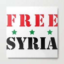 FREE SYRIA Metal Print