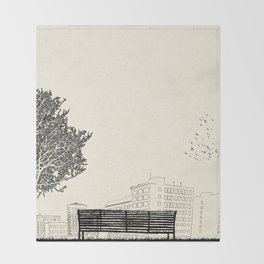Tom's Favourite Spot —Angels Knoll Park, LA —(500) Days of Summer Throw Blanket