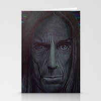 iggy pop Stationery Cards featuring iggy pop by odinelpierrejunior