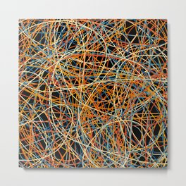 Colored Line Chaos #15 Metal Print