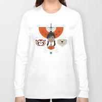 avatar Long Sleeve T-shirts featuring Spirited Avatar by Ashley Hay