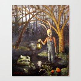 Swamp Bunny Canvas Print