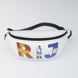 Romeo and Juliet - Navy Code Fanny Pack