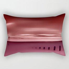 Long red sunset Rectangular Pillow