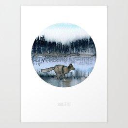 no. 381- Foxy landscape painting. Art Print