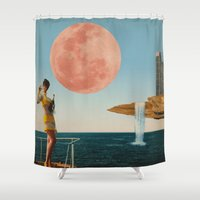 sailing Shower Curtains featuring Sailing by Liall Linz