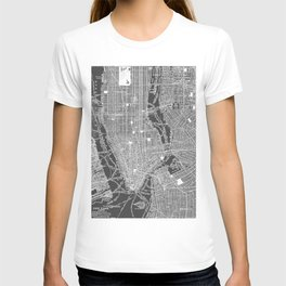 New York City Vintage Map T-shirt