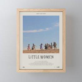 Little Women (2019) Minimalist Poster Framed Mini Art Print