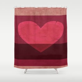 Tattered Heart Shower Curtain