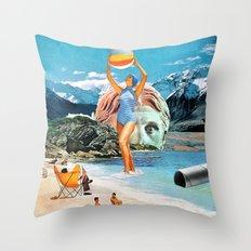 Poseidon in Love Throw Pillow