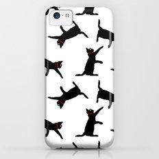 Cats-Black on White iPhone 5c Slim Case