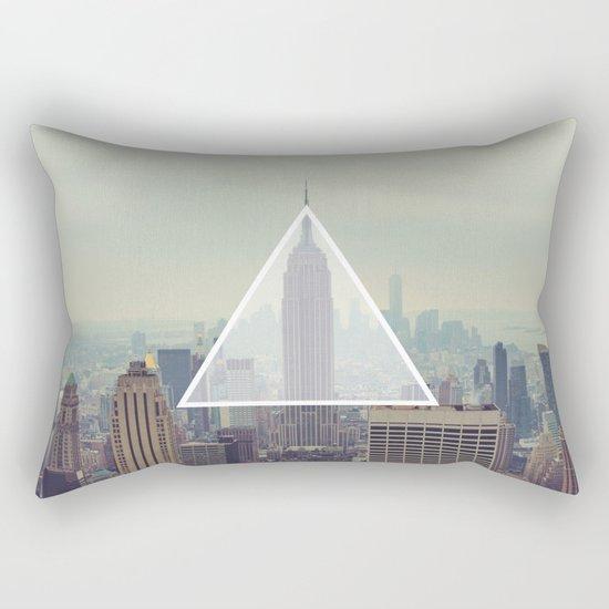 New York Triangle Rectangular Pillow