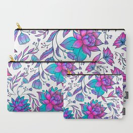 Unicorn Flowers Pattern Carry-All Pouch