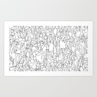 it crowd Art Prints featuring Crowd by Mario Zucca