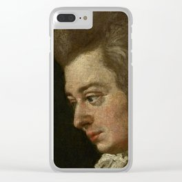 Wolfgang Amadeus Mozart (1756 -1791) by Joseph Lange Clear iPhone Case