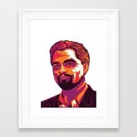 leonardo dicaprio Framed Art Prints featuring Leonardo DiCaprio by Obez