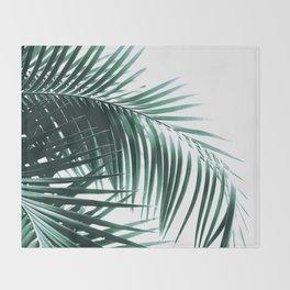 Palm Leaves Green Vibes #8 #tropical #decor #art #society6 Throw Blanket