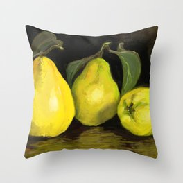 Quinces the fruit of love Throw Pillow
