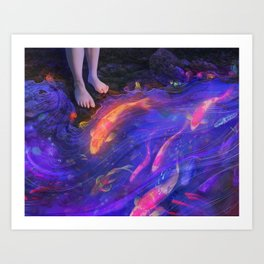 The Glowstream Art Print
