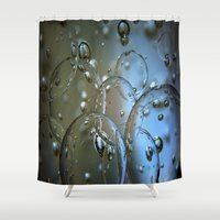 jewish Shower Curtains featuring Voir le beau verre  by Brown Eyed Lady
