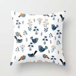 Modern Birds Pattern Throw Pillow