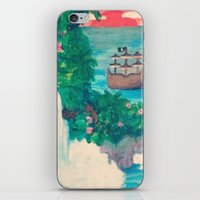 neverland iPhone & iPod Skins featuring Neverland by Jadie Miller